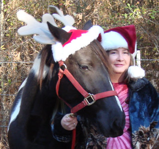 Susan and Sugar in holiday gear!